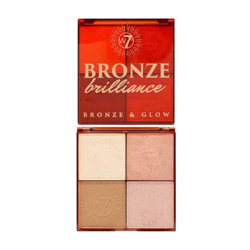 W7 Bronze Brilliance Bronze & Glow Palette - Medium / Dark