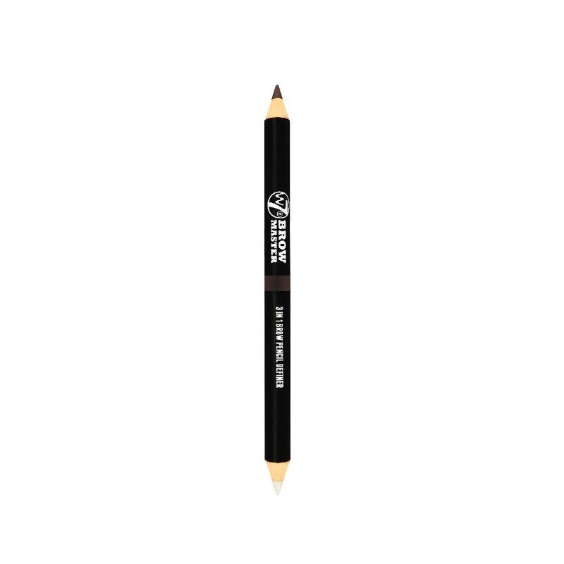 W7 Brow Master 3 In 1 Brow Pencil Definer - Dark Brown