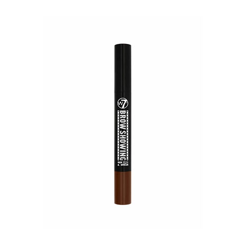 W7 Brow Showing Eyebrow Cream & Brush - Dark Brown