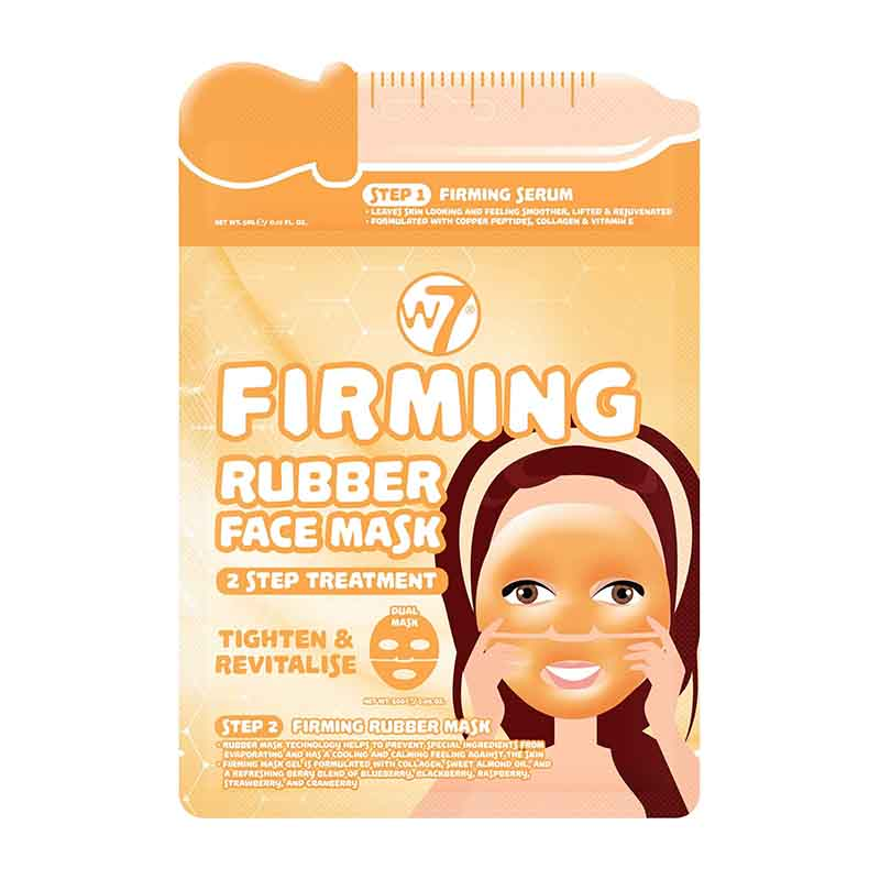 W7 Firming 2 Step Treatment Serum + Rubber Facial Mask