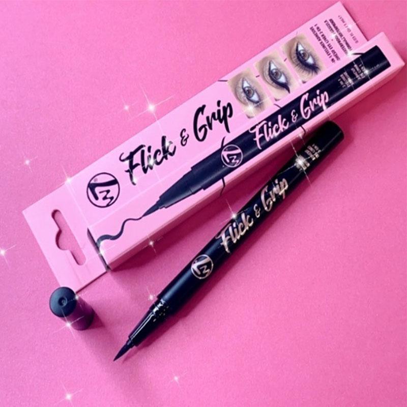 W7 Flick & Grip 2-In-1 Adhesive Eyeliner Pen - Black / Noir