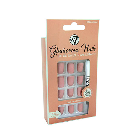 W7 Glamorous Artificial Nails - Cocoa Nude