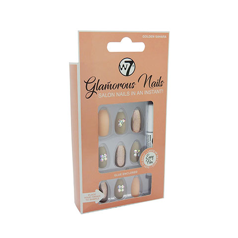 W7 Glamorous Artificial Nails - Golden Sahara