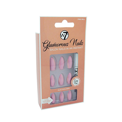 W7 Glamorous Artificial Nails - Pink Bell