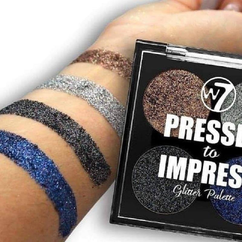W7 Pressed to Impress Glitter Palette - Style Icon