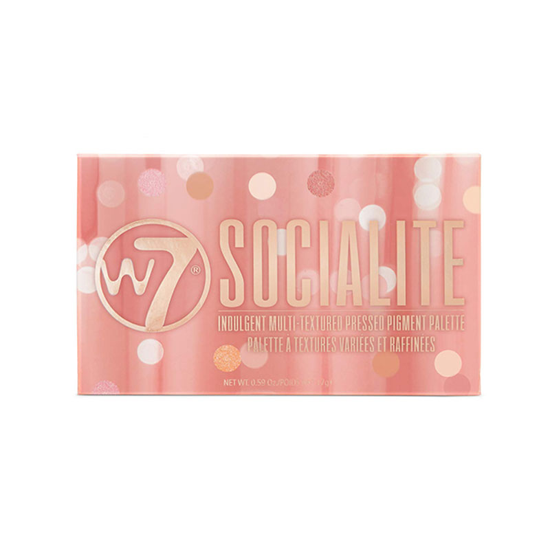 W7 Socialite Indulgent Multi - Textured Pressed Pigment Palette