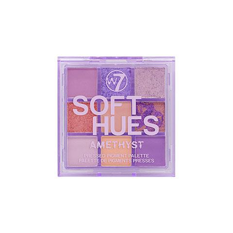 W7 Soft Hues Pressed Pigment Palette - Amethyst