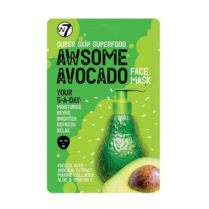 W7 Super Skin Superfood Face Mask - Awsome Avocado