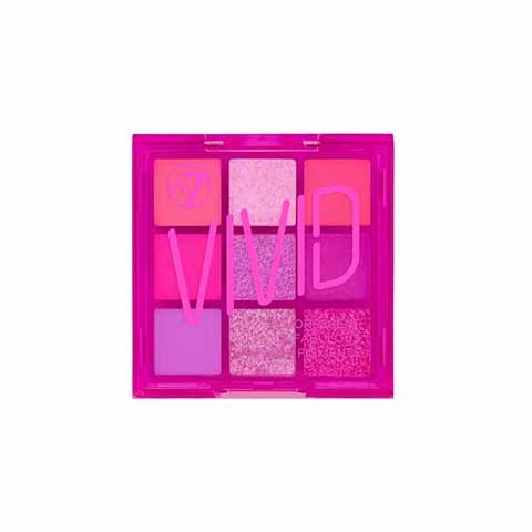 W7 Vivid Pressed Pigment Palette - Punchy Pink