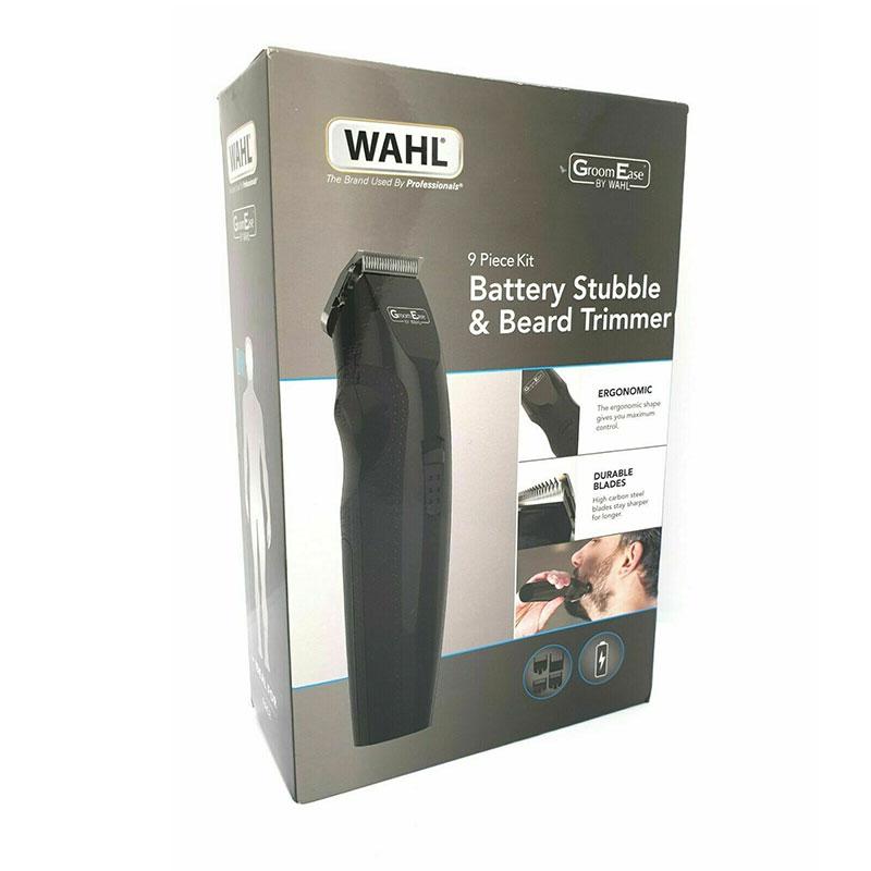 Wahl Groom Ease Battery Stubble & Beard Trimmer 9 Piece Kit