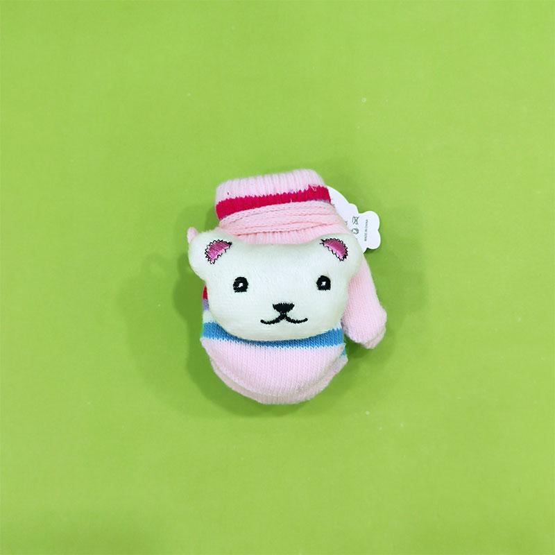 Warm Woolen Baby Gloves - Baby Pink