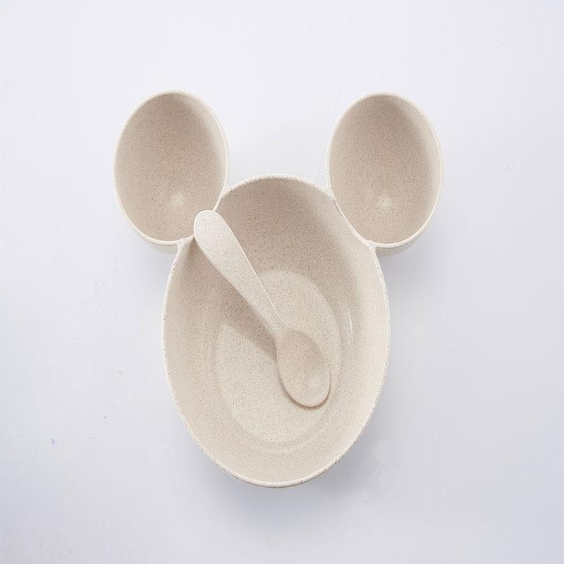 Wheat Straw Children's Tableware Bowl - Brown