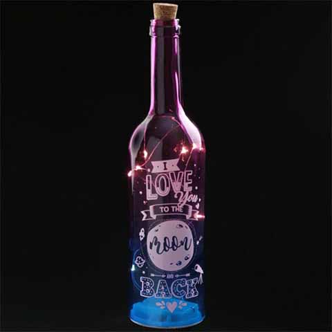 Wish Upon A Jar Two-Toned Led Glass Bottle