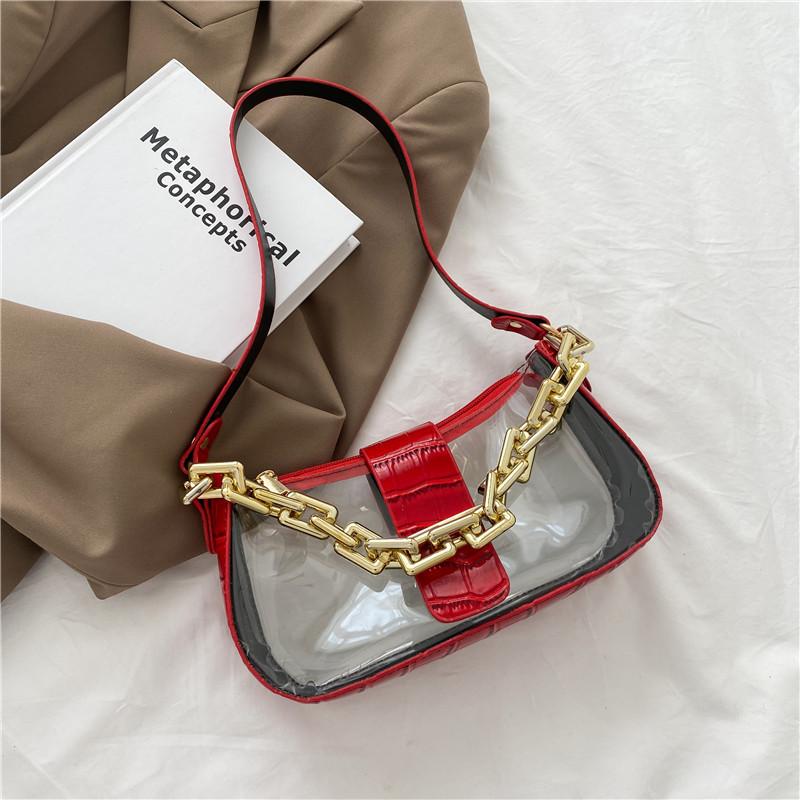 Women's New Trendy Korean Style Transparent Small Bag (1001014)