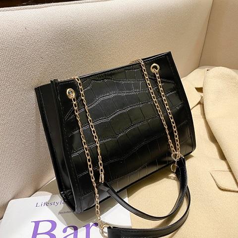 Women's Simple Fashionable Crocodile Pattern Chain Bag (1001059)