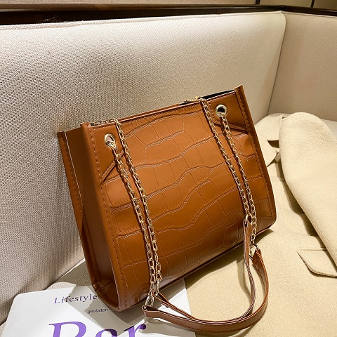 Women's Simple Fashionable Crocodile Pattern Chain Bag (1001060)