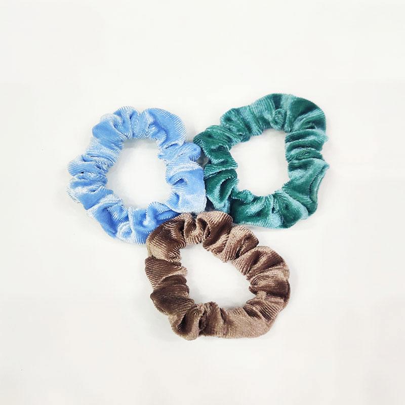 Women's Simple Hair Tie 3pcs Set - Green