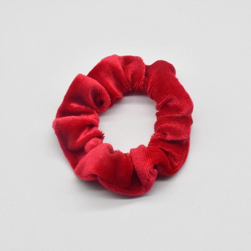 Women's Simple Hair Tie 4pcs Set - Red