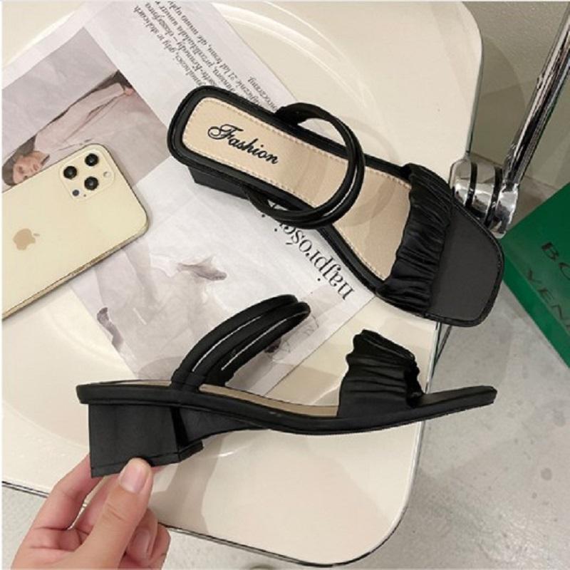 Women's Summer Square Toe Soft Bottom Tide Sandals