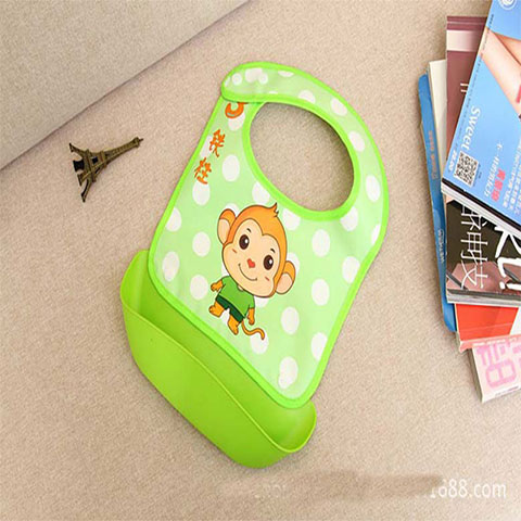 Xierbao Baby Detachable Waterproof Bib - Green