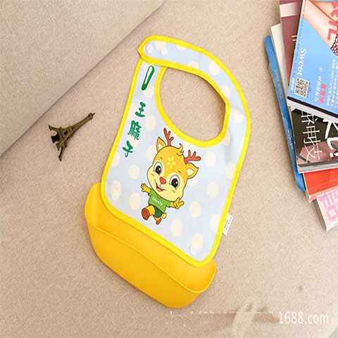 Xierbao Baby Detachable Waterproof Bib - Yellow