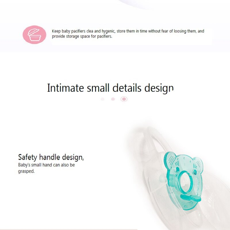 Xierbao Baby Silicone Soother - Blue
