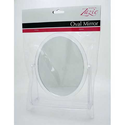 Zazie Oval On Clear Mirror Stand