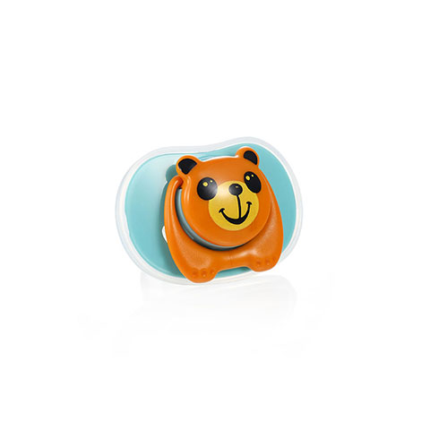 Zhuan Zhuan Xiong Cartoon Pacifier Baby Soother - Blue
