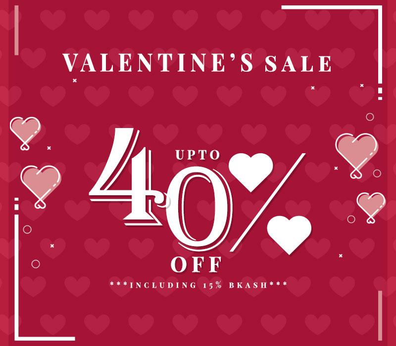 Valentine's Sale - upto 40% OFF!